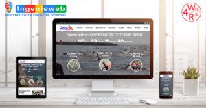 site internet Swimrun Côte d'azur by Web4Run site internet et communication digitale des évènements running